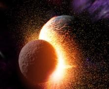 La luna sarebbe nata da una collisione