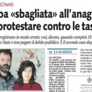 """""""Chieti, bimba sbagliata all'anagrafe contro le tasse""""."""