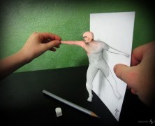 Paper and drawings Illusions of Alessandro Diddi – Illusioni composte