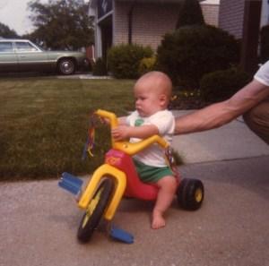 Rob on big wheels