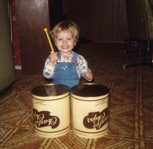 Rob's first drums 1981