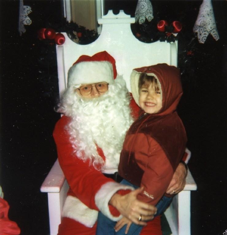 Rob and Santa 1984