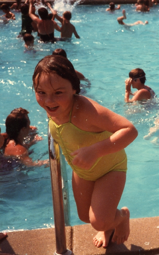 Clare at pool
