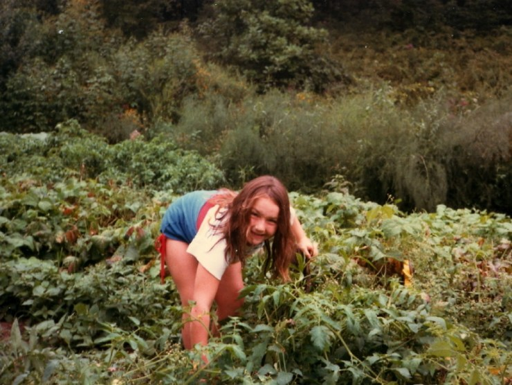Clare in Garden 1985