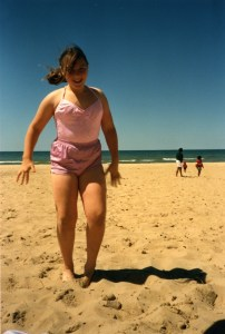 Clare at beach 1989