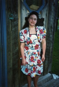 Clare in Hawaii dress