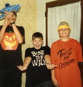 Rob, Erika, and Jorg Berner - Halloween 1991