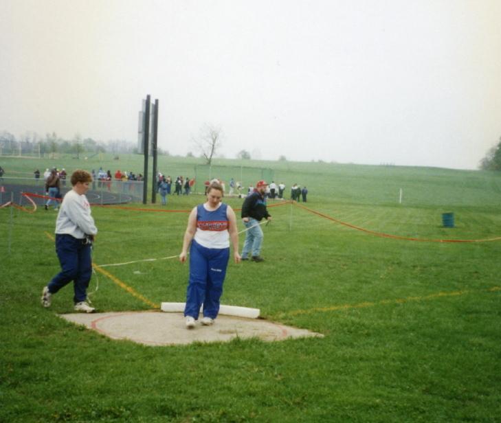 Clare's last track meet 1996