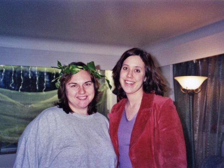 Clare and Sarah Miller 2001