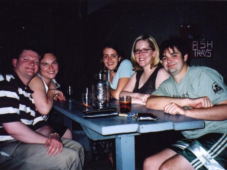 Clare, Dave, Debbie, et al. at Dominick's 2003