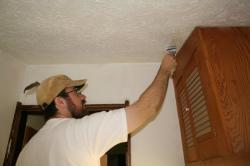 Rob trims the walls