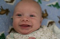 Spencer smiling