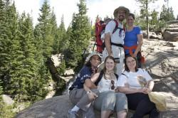 The group at Alberta Falls