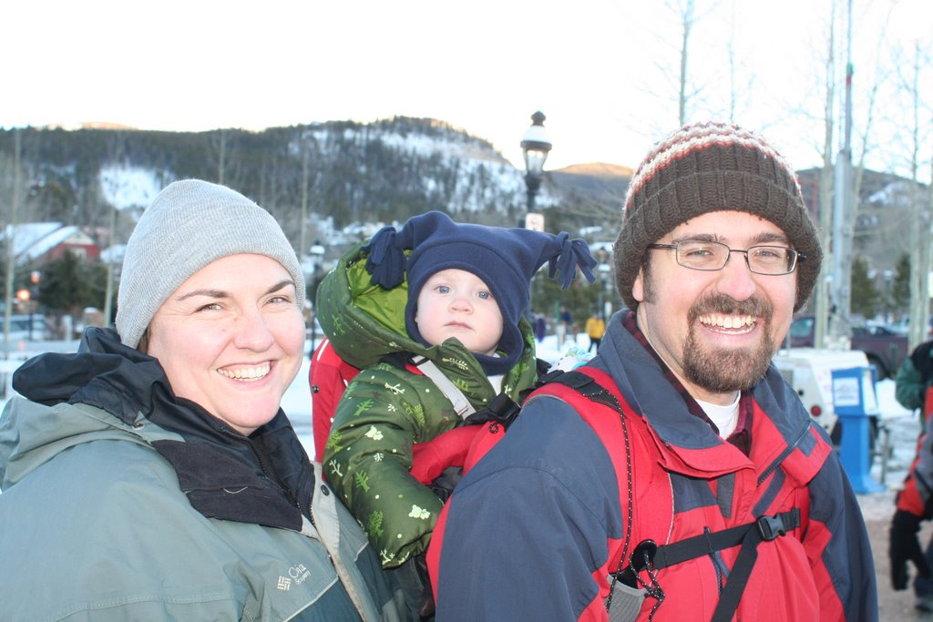 Clare, Rob, and Spencer in Breckenridge