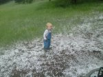 Spencer checks out the hail