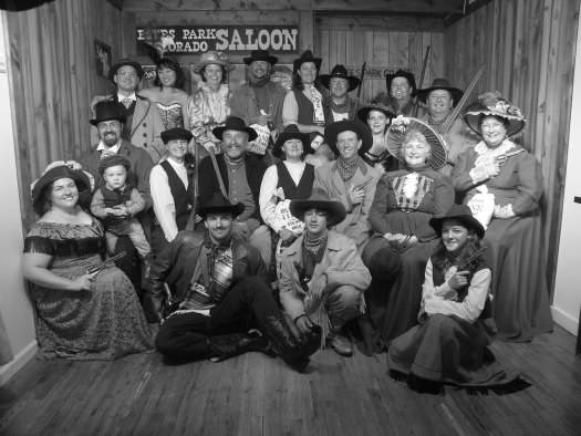 Smiling old time photo from Estes Park