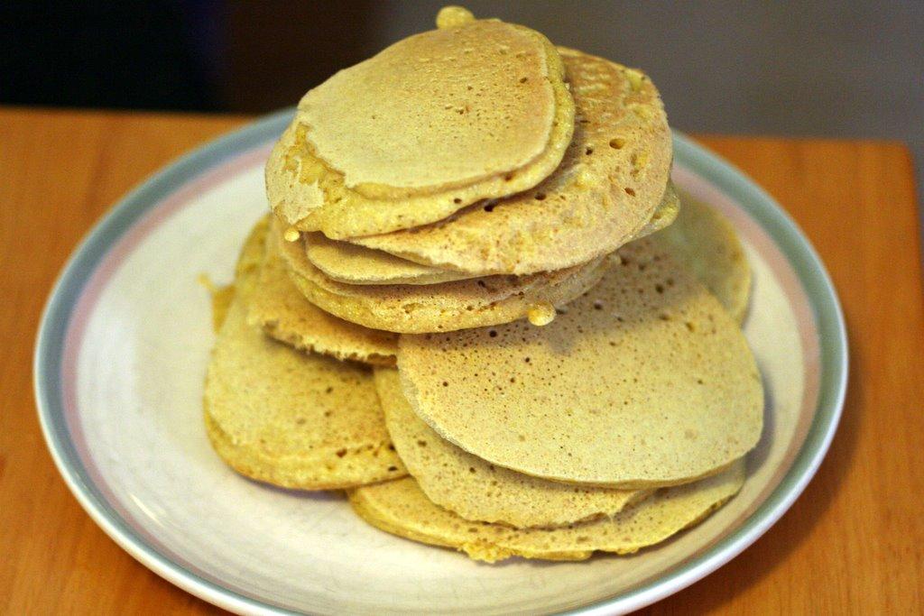 Cornmeal flapjacks
