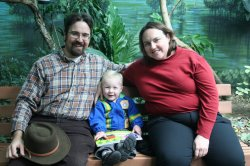 Clare, Rob, and Spencer in Bird World