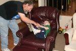 Dave tickling Spencer