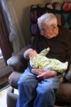 Great Grandpa holding Meg