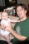 Bret holding Meg