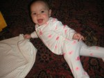 Meg practicing crawling