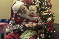 Spencer with Santa Claus