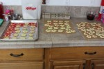 Finished spritz cookies