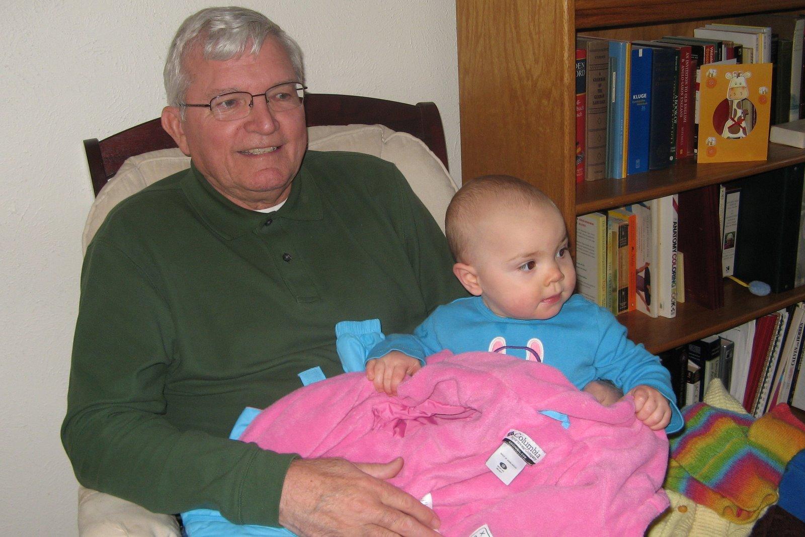 Harold holding Meg