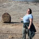 Clare at Geysir