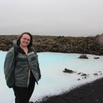 Clare at the blue lagoon