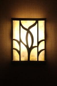 Hallway lighting in the Hyatt