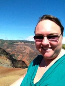 Clare at Waimea canyon