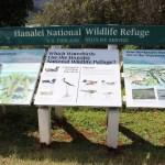 Hanalei National Wildlife Refuge sign