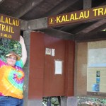 Clare at the start of the Kalalau trail