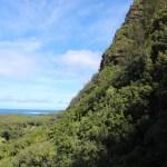Steep cliffs on the Napali coast