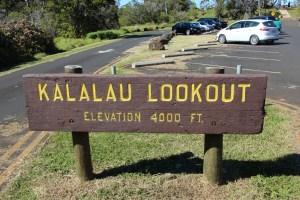 Kalalau lookout sign