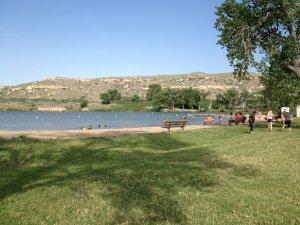 Lake Scott and the bluff beyond