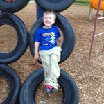 Spencer hamming it up on a playground break just before we get to Terre Haute