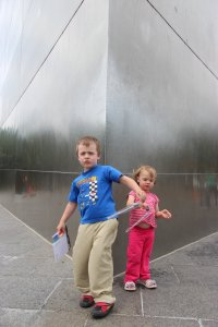 Kids at the base of the Arch