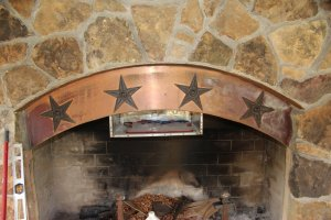Fender four star fireplace... complete with pizza oven