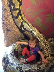 Meg found a snake statue