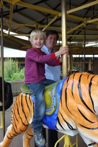 Ben and Charlie on the tiger