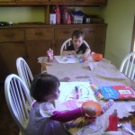 Meg and Spencer painting