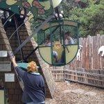 Meg and Spencer on the mini Ferris Wheel