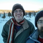 Rob and Bret on the sledding hill
