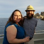 Clare and Rob on the sunset cruise