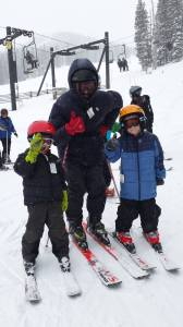 Tao, Rob, and Spencer skiing at Monarch Mountain