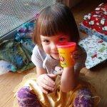 Meg loves playdoh!
