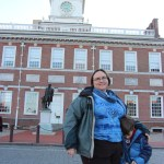 Clare and Spencer by Independence Hall